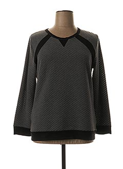 Sweat-shirt gris CLAUDE DE SAIVRE pour femme