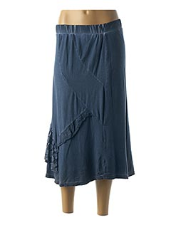 Jupe longue bleu GRIFFONNAGE pour femme