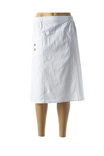 Jupe mi-longue blanc FASHION pour femme