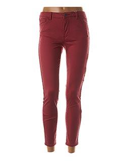 Pantalon 7/8 rouge VILA pour femme