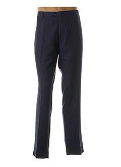 Pantalon chic bleu YVES ENZO pour homme