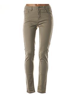 Pantalon casual gris PIECES pour femme