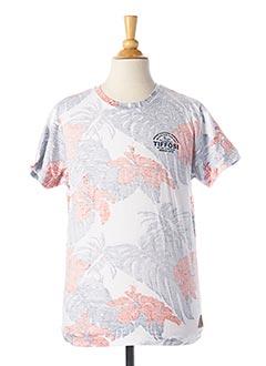 T-shirt manches courtes blanc TIFFOSI pour garçon