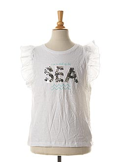 T-shirt manches courtes blanc TIFFOSI pour fille