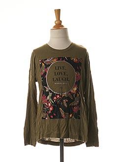 T-shirt manches courtes vert NAME IT pour fille