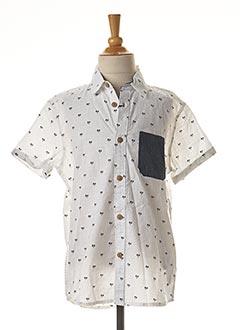 Chemise manches courtes blanc TIFFOSI pour garçon