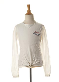 T-shirt manches longues blanc TIFFOSI pour fille