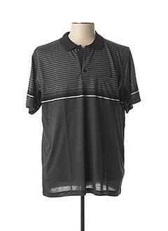 Polo manches courtes gris CAP 10 TEN pour homme