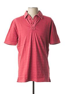 Polo manches courtes rouge PETER COFOX pour homme