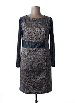 Robe mi-longue gris PAUSE CAFE pour femme