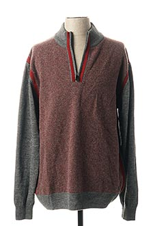 Pull col cheminée rouge OLIVER HOLTON pour homme