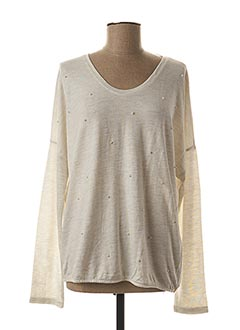 Pull col rond blanc STREET ONE pour femme