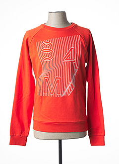 Sweat-shirt orange SORRY 4 THE MESS pour garçon