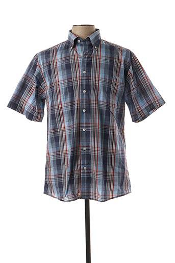 Chemise manches courtes bleu HENDERSON pour homme