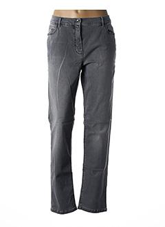 Jeans coupe slim gris BETTY BARCLAY pour femme
