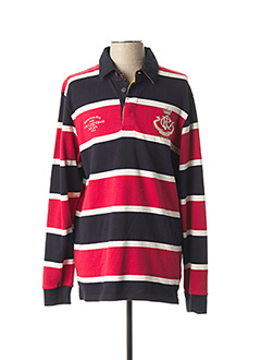 Polo manches longues rouge TOM JOULE pour homme