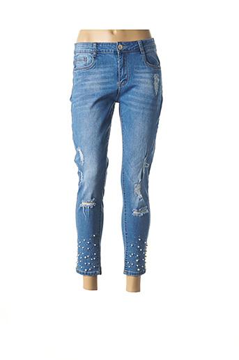 Pantalon 7/8 bleu ADB DENIM pour femme
