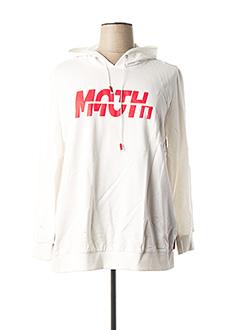 Sweat-shirt blanc POMME ROUGE pour femme
