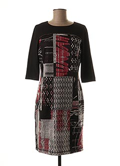 Robe mi-longue noir TINTA STYLE pour femme