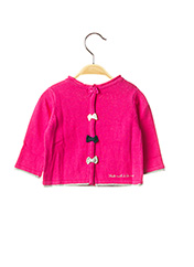 Pull col rond rose WEEK END A LA MER pour fille seconde vue