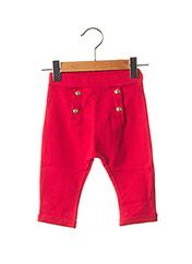 Pantalon casual rouge PETIT BATEAU pour fille seconde vue