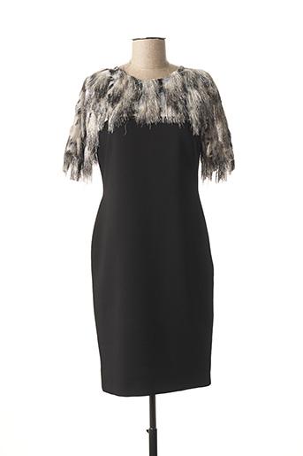 Robe mi-longue noir CHEMA BLANCO pour femme