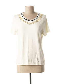 Pull col rond beige FUEGO WOMAN pour femme