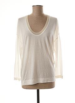 T-shirt manches longues blanc ESSENTIEL pour femme