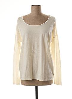 T-shirt manches longues blanc HARTFORD pour femme