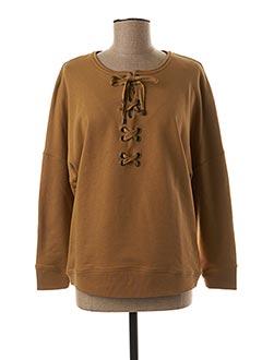 Sweat-shirt beige SESSUN pour femme