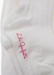 Collants blanc LILI GAUFRETTE pour fille seconde vue
