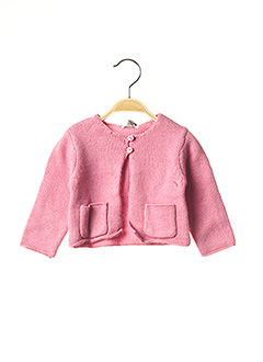 Gilet manches longues rose ABSORBA pour fille