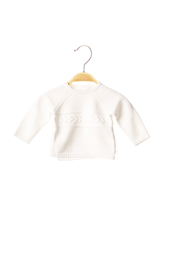 Pull col rond blanc ABSORBA pour enfant