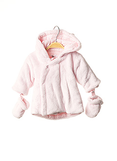 Manteau court rose ABSORBA pour fille