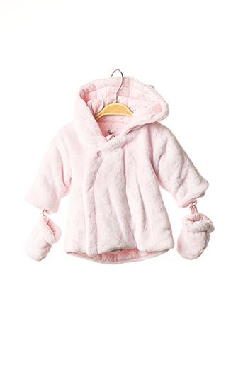 Manteau court rose ABSORBA pour fille