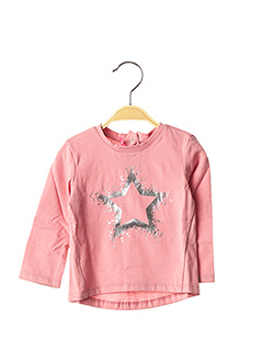 T-shirt manches longues rose ABSORBA pour fille