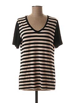 T-shirt manches courtes noir AKELA KEY pour femme