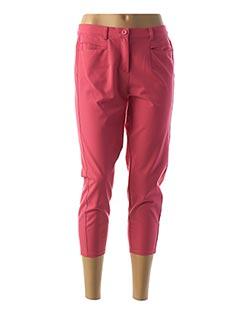 Pantalon 7/8 rose FRANK WALDER pour femme