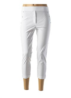 Pantalon casual blanc HALOGENE pour femme