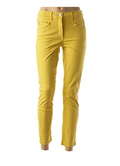 Pantalon casual jaune BETTY BARCLAY pour femme