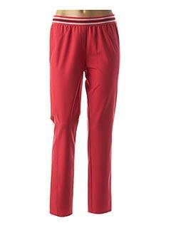 Pantalon casual rouge FRANK WALDER pour femme