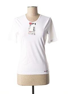 T-shirt manches longues blanc TRIACTION BY TRIUMPH pour femme