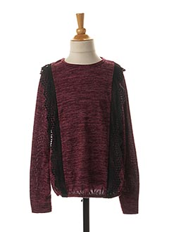 Pull col rond rouge LPC GIRLS pour fille