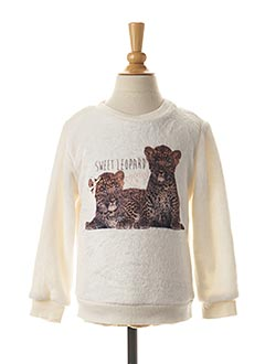 Sweat-shirt blanc LOSAN pour fille