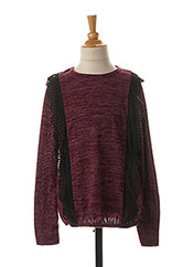 Pull col rond rouge LPC GIRLS pour fille seconde vue