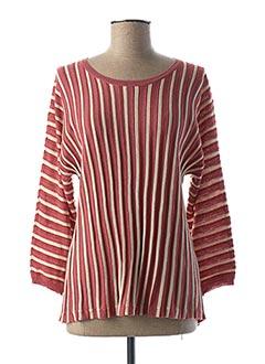 Pull tunique rose SEASON pour femme