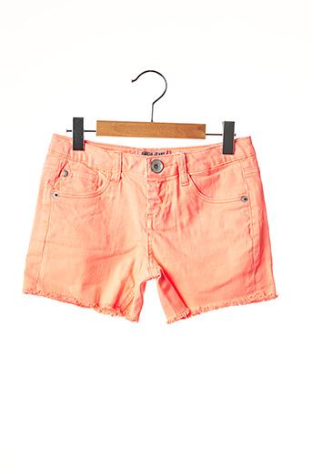 Short orange GARCIA pour fille