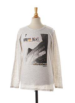 T-shirt manches longues gris GARCIA pour garçon