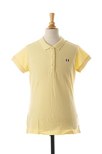 Polo manches courtes jaune TEDDY SMITH pour garçon