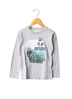 T-shirt manches longues gris TIFFOSI pour garçon